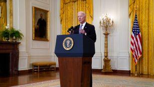 Joe Biden en conferencia sobre las vacunas contra Covid-19
