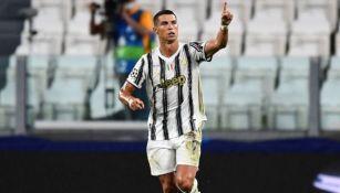 Cristiano Ronaldo celebra gol con la Juventus