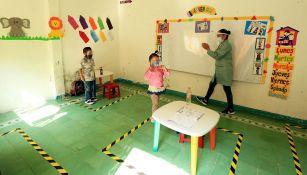 Una clase con protocolo sanitario en Guanajuato