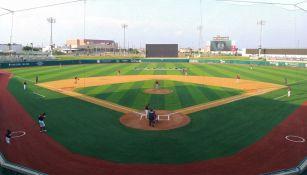 El diamante durante un juego de Liga Mexicana de Beisbol