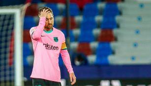 Messi en un juego con Barcelona