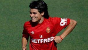 Luka Romero en un partido del Mallorca