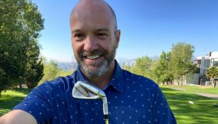 Luis García, en un campo de golf