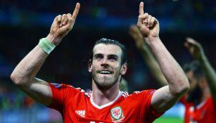 Gareth Bale en acción con Gales