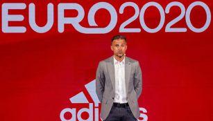 Luis Enrique durante un evento rumbo a la Euro 2020