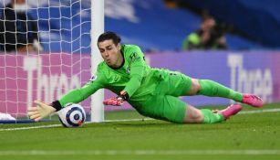 Kepa Arrizabalaga en acción con Chelsea