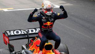 Max Verstappen en festejo en el Gran Premio de Mónaco