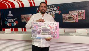 Chivas presentó boletos de la Lotería Nacional por su 115 aniversario