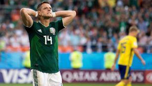 Chicharito Hernández en lamento con México