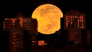 Eclipse lunar visto desde Brasilia, Brasil