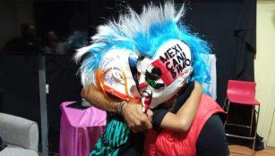 Psycho Clown y un gran abrazo con Mateo