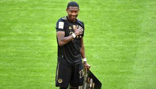 Alaba en su último partido con el Bayern Munich