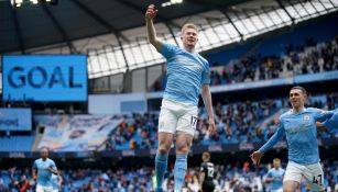 Kevin De Bruyne festejando un gol a favor del Manchester City