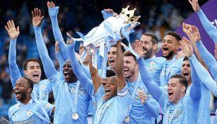Manchester City en partido de la Premier League