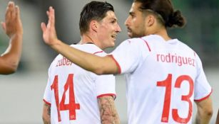 Suiza en festejo de gol