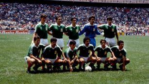 Jugadores del Tri, antes de un juego en el Azteca