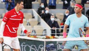 Rafael Nadal y Novak Djokovic, previo a Final de Roland Garros