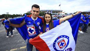 Aficionados de Cruz Azul previo a la Final de Vuelta