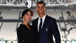 Georgina Rodríguez y Cristiano en el Juventus Stadium