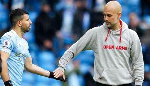 Agüero con Guardiola