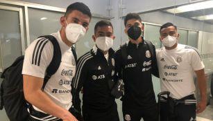 Jugadores de la Selección Mexicana Olímpica previo a viajar a Marbella