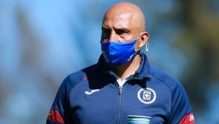 Conejo Pérez en entrenamiento con Cruz Azul