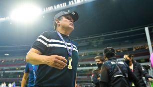 Juan Reynoso tras ganar título con Cruz Azul