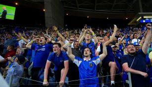 Aficionados del Chelsea en el Estadio Do Dragao