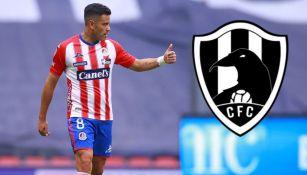 Pablo Barrera en acción con San Luis