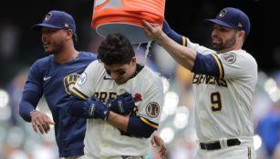 MLB: Luis Urías dejó tendidos a los de Detroit para darle victoria a Milwaukee