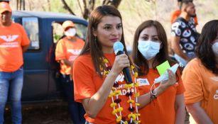 Marilú Martínez Núñez en un acto de campaña