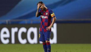 Lionel Messi tras una derrota con Barcelona