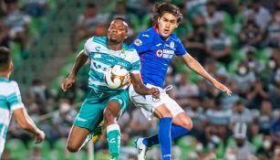 'Shaggy' Martínez en la Final de Ida frente al Santos