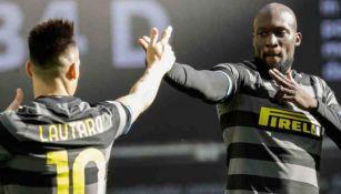 Lukaku en festejo con el Inter