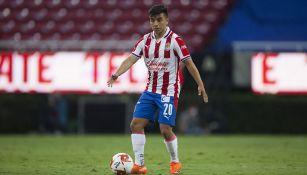 Fernando Beltrán en un partido con Chivas