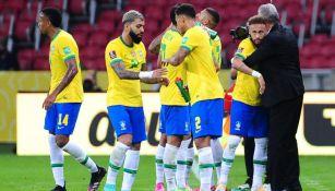 Brasil en festejo de gol