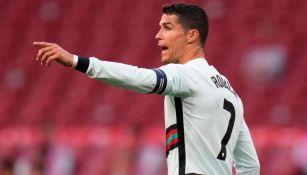 Cristiano Ronaldo en un partido de Portugal