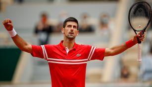 Novak Djokovic celebra la victoria