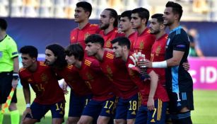 España previo a un partido en el Europeo  sub-21