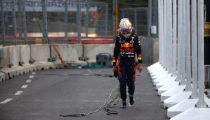 Max Verstappen en lamento tras su accidente