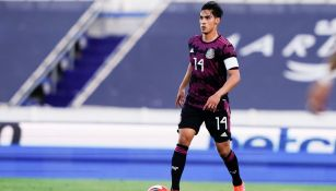 Erick Aguirre en un partido con el Tri Sub 23