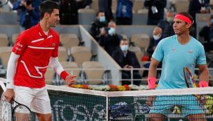 Nadal y Djokovic en la edición 2020 de Roland Garros
