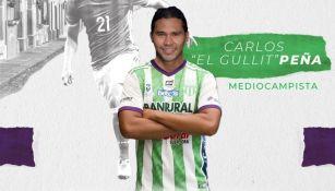 Carlos Peña con el Antigua FC