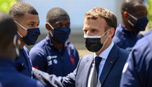 Mbappé y Macron