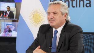 Alberto Fernández en conferencia