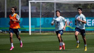 Selección de España en entrenamiento