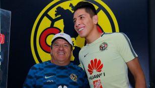 Miguel Herrera y Edson Álvarez en presentación