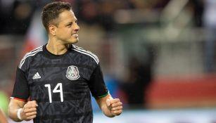 Chicharito Hernández en un partido con México