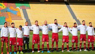 Selección de Venezuela previo a partido