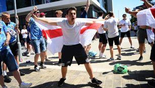 Aficionado inglés previo al Inglaterra vs Croacia